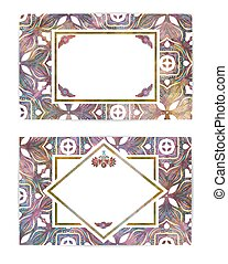 Set of two retro cards or backgrounds. Abstract vector illustration, EPS10