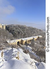Winter view of the quot;Academic galleryquot; Pyatigorsk -...