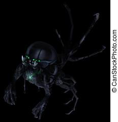 Underground Lurker Alien Concept Green Glowing - Underground...