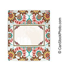 Vector floral background or card with flowers. EPS10