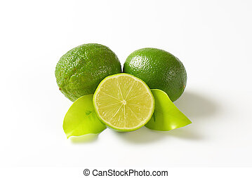 Fresh lime fruits