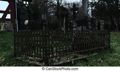 Cemetery in Dark Weather