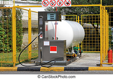 LPG Pump - LPG Gas Station for Autogas With Big Cylinder