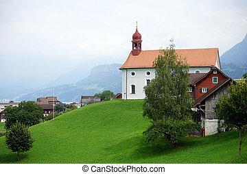 Parish church - BECKENRIED, SWITZERLAND - CIRCA AUGUST 2015...