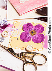 The making postcard - The making scrapbooking album with...