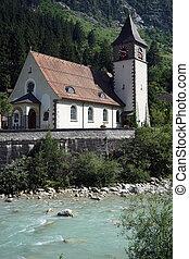 Parish church - GURTNELLEN, SWITZERLAND - CIRCA AUGUST 2015...