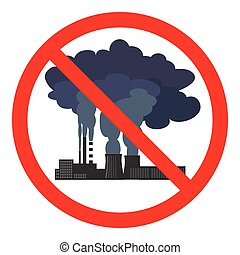 Stop air pollution sign. Vector illustration - Stop air...