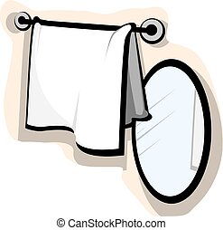 Mirror and wash cloth