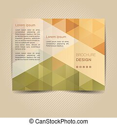 Vector template for leaflet - Polygonal vector design...