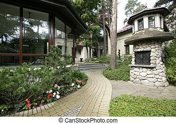 garden - exterior of a house and garden