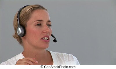 Cute customer service agent - Portrait of a dynamic customer...