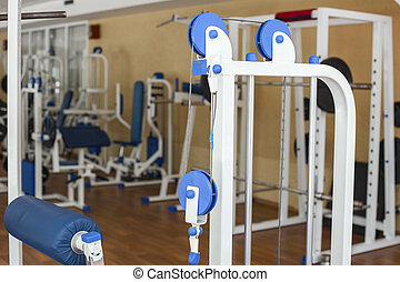 Sports trainer for the muscles - Blue sports trainer for the...