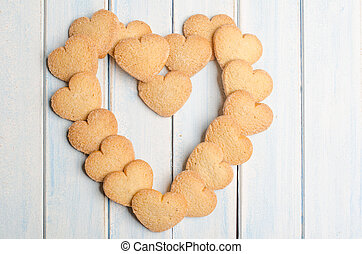 Big heart made with shortbread. - Big heart made with...