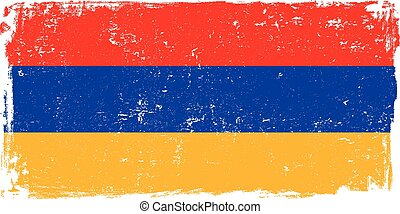armenia flag vectoreps - Armenia vector grunge flag isolated...