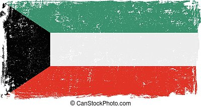 kuwait flag vectoreps - Kuwait vector grunge flag isolated...