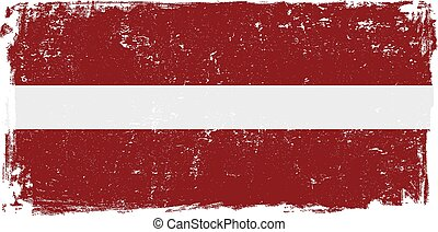 latvia flag vectoreps - Latvia vector grunge flag isolated...