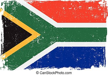 south africa flag vector.eps - South Africa vector grunge...