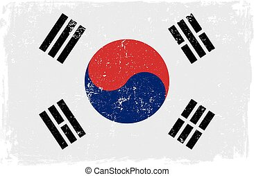 south korea flag vector.eps