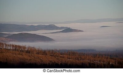 Inversion in the mountains - Beautiful weather inversion in...
