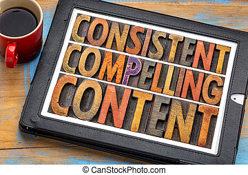 consistent, compelling content - recommendation for bloging...