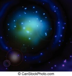 Space sky background with stars and lights - Space sky...