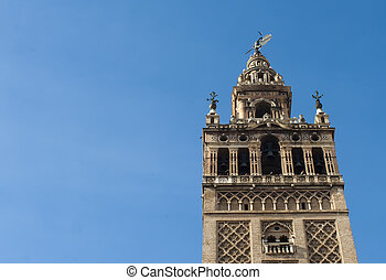 Giralda in Seville, Spain, cathedral tower