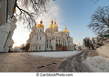 Kiev-Pechersk Lavra at winter.