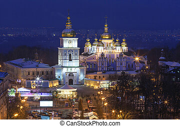 St Michael Golden-Domed Monastery - famous church in Kyiv,...