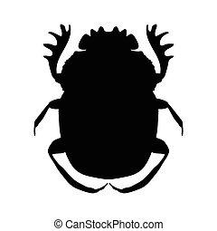 silhouette scarab silhouette Geotrupidae dor-beetle...