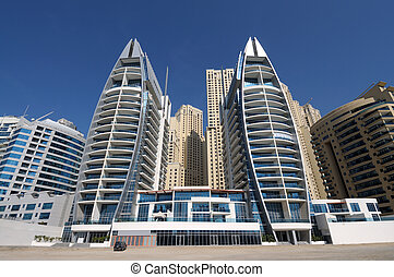 Modern Buildings at Dubai Marina, United Arab Emirates