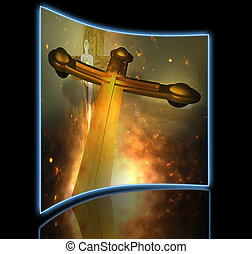 Forgiveness - Figure of Crucifixion made in 3dmax end hand...