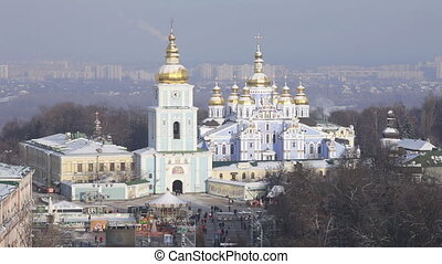 Cathedral in Kiev - Exterior of Sophia Cathedral in Kiev,...