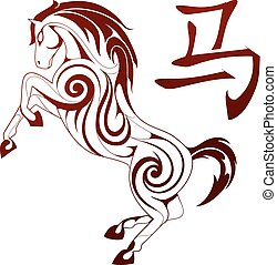 Horse as symbol for Chinese zodiac - Ornamental horse figure...