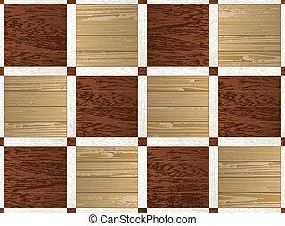 Parquet pattern semless - Artistic mosaic parquet. Seamless...