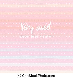 sweet striped and polka dots seamless pattern vector