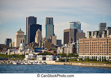 Montreal Downtown and Saint-Lawrence River