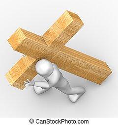 Carry cross - Jesus love us