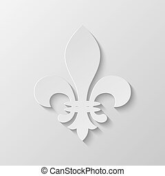 Paper Fleur de lis. Vector EPS10 illustration.