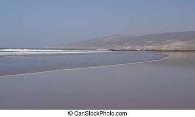 agadir city morocco beach and ocean landscape panorama