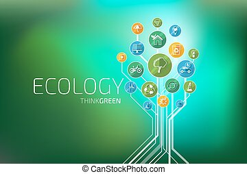 Ecology Infographic. Think Green