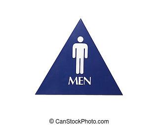 Men\'s Restroom Sign