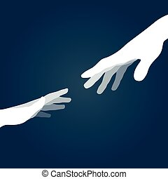 Vector hands silhouettes