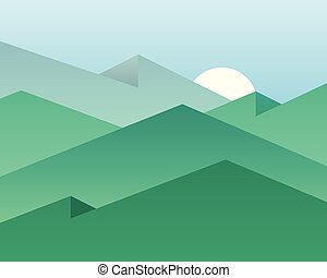 Vector background mountains - Vector background with...