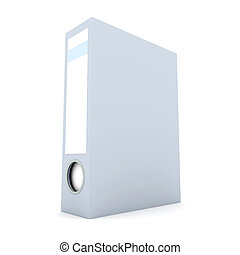 File Folder - 3D rendered Illustration. Isolated on white.