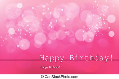 Happy Birthday bw - Vector inscription on a pink background...