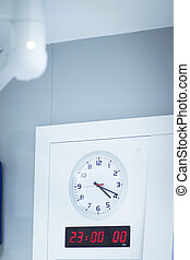 Hospital operating room clock