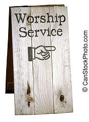 adoração, Serviço, sinal