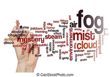 begrepp, ord, dimma, moln