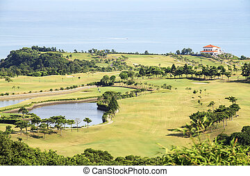 Beautiful golf place with nice background - The Beautiful...