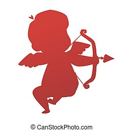 Valentine Day cupid angel cartoon style vector illustration...